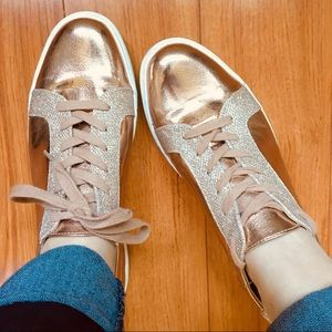 Kenneth Cole Reaction Joey Rose Gold Sneakers